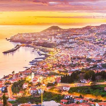 Aerial view of Funchal, capital of Madeira