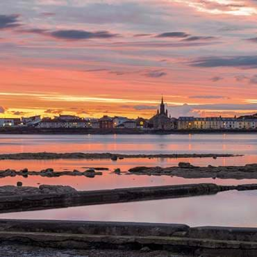 Beautiful sunset over Ardrossan and Arran